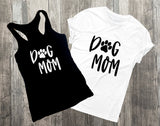 Dog Mom Mother's Day Gift for Fur Momma, Birthday Gift for Girlfriend, Puppy Related Gifts, Custom Graphic Tee, Paw Print TShirt Prints - lasting-expressions-vinyl