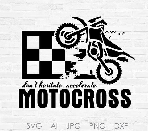 Motocross Dirtbike Vector Clipart Quote, Racing Printable Nursery Decor, Boys Bedroom Wall Decor, Vinyl Craft Stencil Sayings, SVG Quotes - lasting-expressions-vinyl
