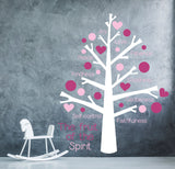 Fruit of the Spirit Vinyl Wall Decal Sticker Tree - lasting-expressions-vinyl