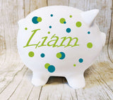Custom Piggy Bank with name - lasting-expressions-vinyl