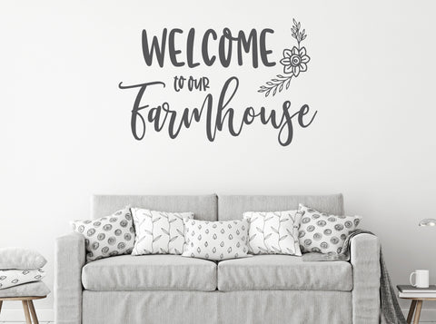 Farmhouse Welcome Wall Lettering Quote - lasting-expressions-vinyl