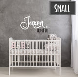 Name Vinyl Wall Decal Sticker for Above Crib, Nursery Wall Art Name, Kids Name Sign for Bedroom, Baby Nursery Wall Sticker Custom Decal Sign - lasting-expressions-vinyl