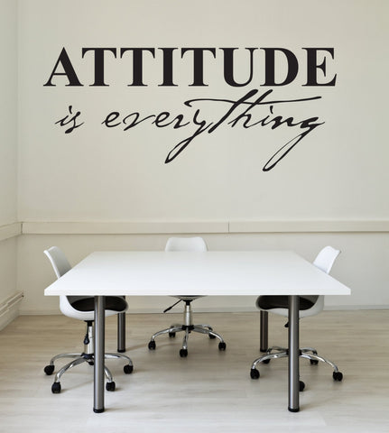 Attitude is everything Vinyl Wall Decal - Inspirational Quote - lasting-expressions-vinyl