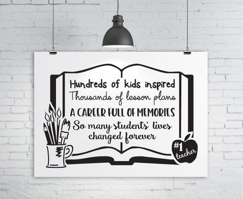Teacher SVG Retirement Sign, Digital Teacher Clipart, Printable Teacher Quotes, DXF Cricut Cut File, Vinyl Craft Designs, Retirement Teacher - lasting-expressions-vinyl