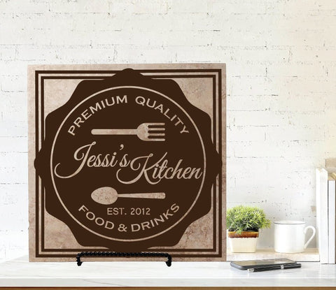 Custom Kitchen Name Sign - lasting-expressions-vinyl