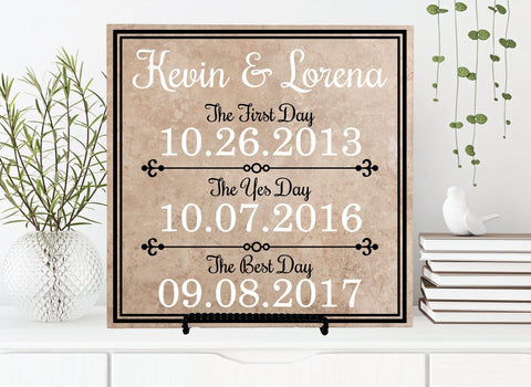 Custom Significant Anniversary Date Sign, Birthday Gift for Wife, Wedding Table Top Decor, Engagement Photography Props, In These Moments - lasting-expressions-vinyl