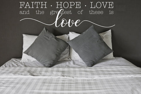 Wall Words Faith Hope Love Saying - lasting-expressions-vinyl