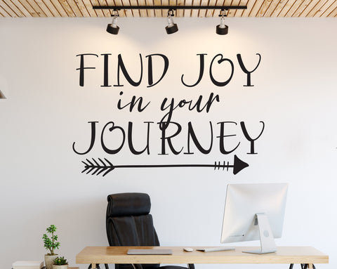 Wall Words Motivational Quote, Find Joy in your Journey - lasting-expressions-vinyl