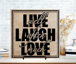Live Laugh Love Ceramic Tile Sign, Wood Wall Hanging, Housewarming Gift Friend, Thank You Gift Realtor, Inspiration Home Decor, Laugh Often - lasting-expressions-vinyl