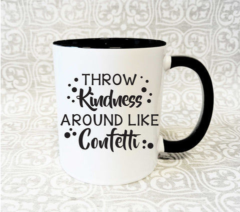 Coffee Mug Quote Kindness Confetti, Birthday Gift for Boss - lasting-expressions-vinyl