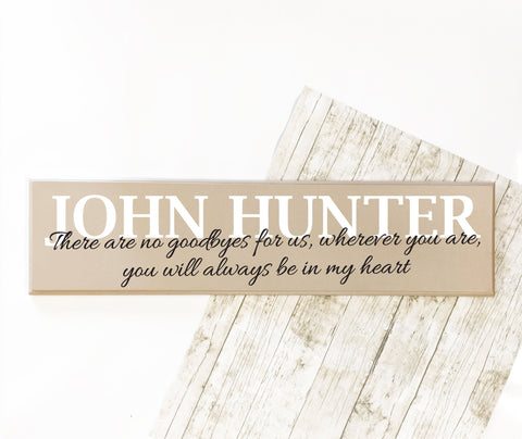 Memorial Hanging Sign, Remembrance Wood Memorial Plaque, In Loving Memory Sign Personalized, Loss of Child Memorial Gift, Custom Name Sign - lasting-expressions-vinyl