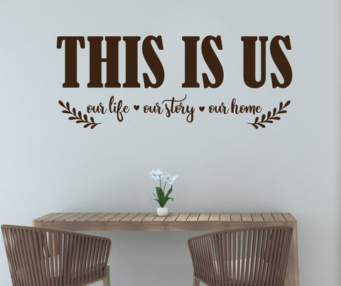 Family Quote Wall Sticker Art, This is Us Vinyl Wall Decal - lasting-expressions-vinyl