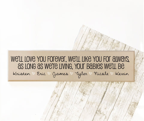 Family Quote Sign with Children Names, Personalized Family Tree Name Sign, Your Baby I'll Be Saying Sign, Christmas Gift Mom, Custom Sign - lasting-expressions-vinyl