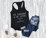 Dreams and Love Nothing is Impossible Graphic Tee, Motivational Tshirt Gift for Friend, Inspirational Quote Hoodie, Women's Custom Tank Tops - lasting-expressions-vinyl