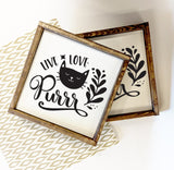 Cat Sign Home Decor, Live Love Purr Kitten Quote - lasting-expressions-vinyl