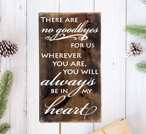 Wood Memorial Wall Plaque Sign - Always in my heart - lasting-expressions-vinyl
