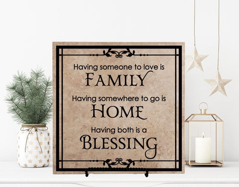 Family Home Blessing Quote Plaque - lasting-expressions-vinyl