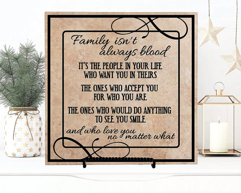 Family isn't always blood quote sign, Friend Moving Away Gift - lasting-expressions-vinyl