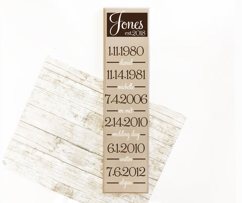 Special Dates Hanging Wood Decor Sign - lasting-expressions-vinyl