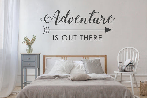 Adventure Quote Extra Large Wall Art, Boho Chic Home Decor, Vinyl Wall Decal Saying, Wall Stencil Bedroom Decor, Inspirational Wall Art - lasting-expressions-vinyl
