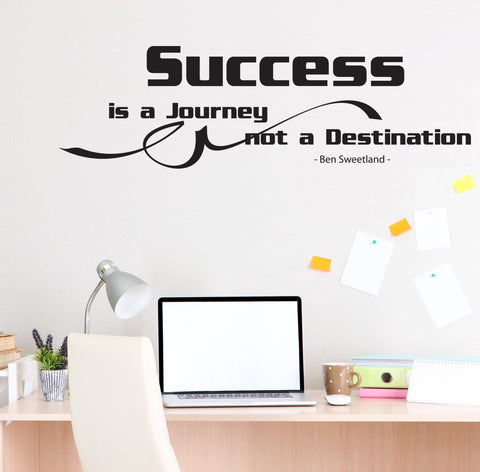 Success Wall Decal Quote - lasting-expressions-vinyl