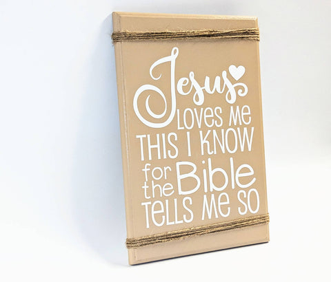 Jesus loves me sign - lasting-expressions-vinyl