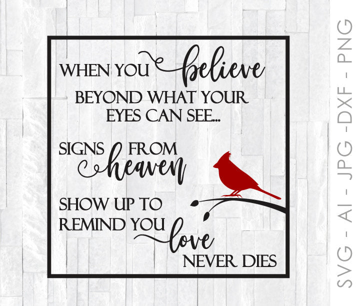 Cardinal Sign Quote Svg Digital Crafting File For Cricut Silhouette Lasting Expressions
