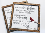 Cardinal Sign Quote SVG, Digital Crafting File for Cricut, Silhouette Saying for Vinyl, DIY Sign Design, Memorial Quote Card Print File - lasting-expressions-vinyl