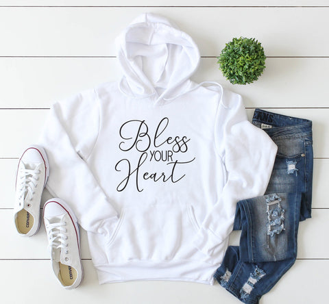 Bless Your Heart Tshirt, Women's Graphic Tee, Tank Top with Saying, Black Men's Hoodie, Funny Gift for Girlfriend, Friend Christmas Gift - lasting-expressions-vinyl