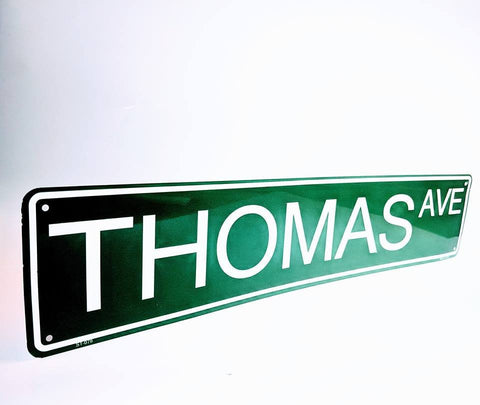 Name Street Sign, Custom Kids Name Sign, Baby Boy Nursery Decor, First Birthday Gift, Kids Personalized Christmas Gift, Green Street Sign - lasting-expressions-vinyl