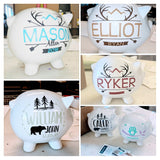 Personalized Piggy Bank with Name - lasting-expressions-vinyl