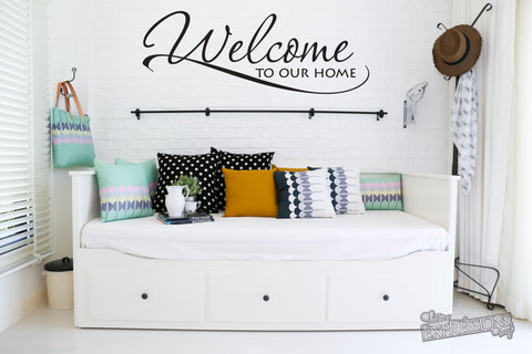 Welcome Sign, Welcome Wall Words Sticker - lasting-expressions-vinyl