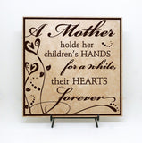 Gift for Mom Quote Plaque Sign, Mother's Day Gift, Baby Shower Gift for New Mom, Birthday Gift for Her, Mom Child Quote Sign Home Decor - lasting-expressions-vinyl
