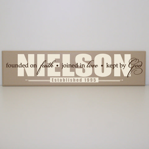 Last Name Established Sign - lasting-expressions-vinyl