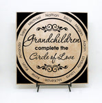 Grandchildren Name Quote Plaque, Family Tree Grandchildren Sign, Grandmother Birthday Gift, Circle of Love Saying, Family Name Custom Sign - lasting-expressions-vinyl