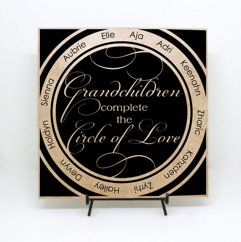 Grandchildren Quote Sign with Names, Personalized Grandchildren Gift for Grandma, Mother's Day Gift from Grandkids, New Grandparents Gift - lasting-expressions-vinyl