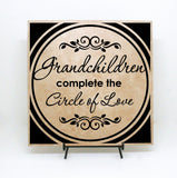 Grandchildren Quote, Circle of Love, Saying about Grandkids, Gift for New grandparents, Pregnancy Announcement, Nana Papa gift for Christmas - lasting-expressions-vinyl