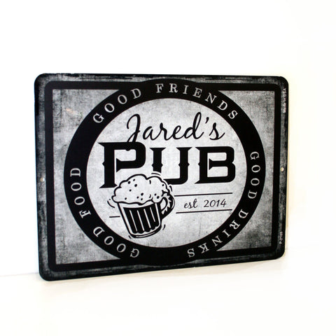 Brewery Name Hanging Sign, Metal Pub Home Decor - lasting-expressions-vinyl