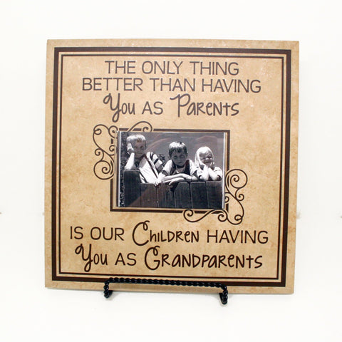 Grandchildren Saying Picture Frame Gift, Grandmother Birthday Gift from Grandkids, Pregnancy Announcement Sonogram Frame, New Grandma Gift - lasting-expressions-vinyl