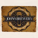 Metal Bar Sign for Man Cave, Husbands Birthday Gift, 9x12 Metal Street Sign, Father's Day Gift for Dad, Custom Brewery Name Sign, Beer Names - lasting-expressions-vinyl