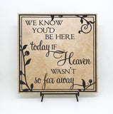 Memorial Quote Plaque Heaven Quote, Heaven Far Away Saying Sign, Wedding Memorial Display, Funeral Condolence Plaque Gift, In Loving Memory - lasting-expressions-vinyl
