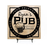 Personalized Name Pub Sign, Man Cave Decor, Groomsman Gift, His Birthday, Father's Day, Custom Bar Decor Sign, Gift for Dad, Housewarming - lasting-expressions-vinyl