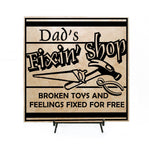 Dad's Fixin Shop Sign, Father's Day Gift for dad, Anniversary Gift, New Parents Gift, Pregnancy Announcement, Gift for Grandpa, Custom Signs - lasting-expressions-vinyl