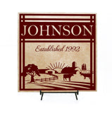 Farm Established Plaque Sign - lasting-expressions-vinyl