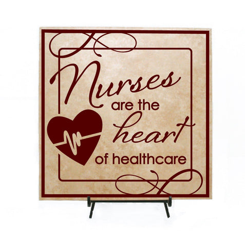 Nurse Quote Nurses are the Heart of Health care Sign - Nurse Gift for Her, Nurses Week, Graduation Gift, Thank you quote, Nurse Saying Sign - lasting-expressions-vinyl