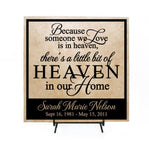 Heaven in our home memorial sign, someone we love, in loving memory, personalized gift after loss, family memorial quote, heaven love sign - lasting-expressions-vinyl