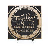Family Quote Sign - Together is a wonderful place to be - lasting-expressions-vinyl