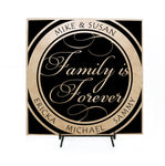 Family is forever sign, Personalized Wood Sign - lasting-expressions-vinyl