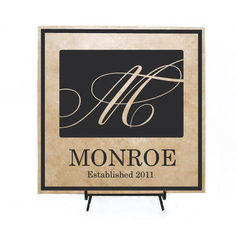 Monogram Personalized Sign Gift, Custom Name Welcome Wood Sign, Name Initial Wedding Centerpiece Table Top Decor, Anniversary Gift for Her - lasting-expressions-vinyl