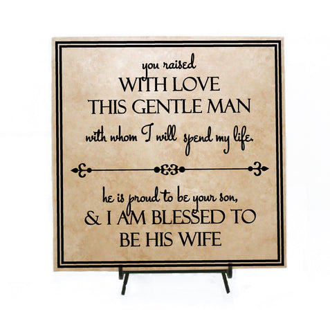 e28247f3 Father of Groom Wedding Thank You Gift, Raised this Gentle Man Blessed his  wife,